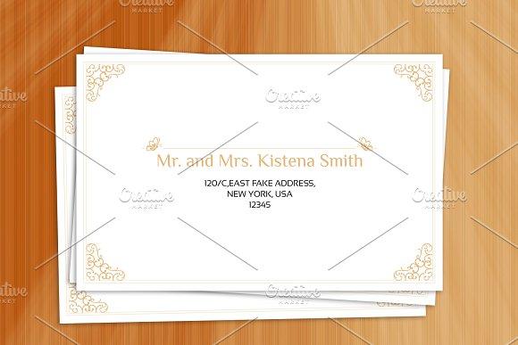 wedding envelope template stationery templates creative market