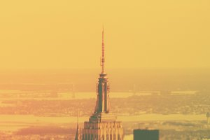 Vintage Empire State Building