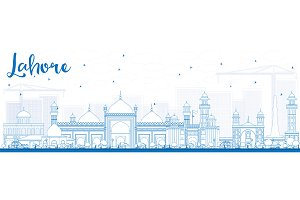 Outline Lahore Skyline