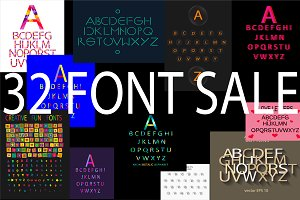 32 Font vector collection SALE