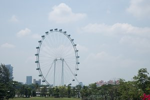 Singapore Flyer in daytime.