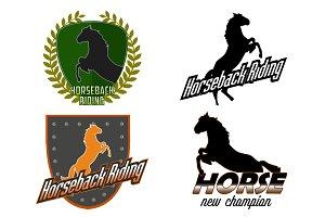 Horseback Riding professional logo