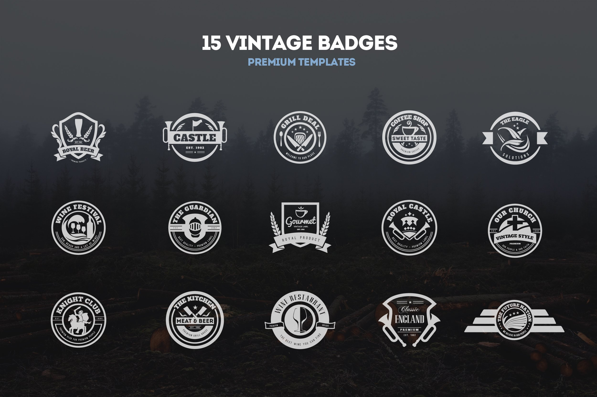 15 Vintage Templates, Badges, Logos ~ Logo Templates ...