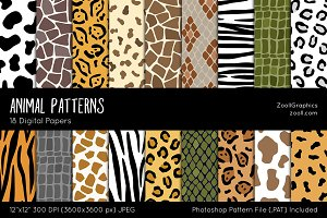 Animal Digital Papers
