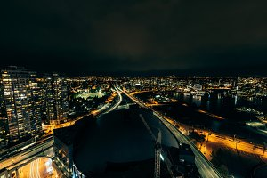Vancouver False Creek at Night