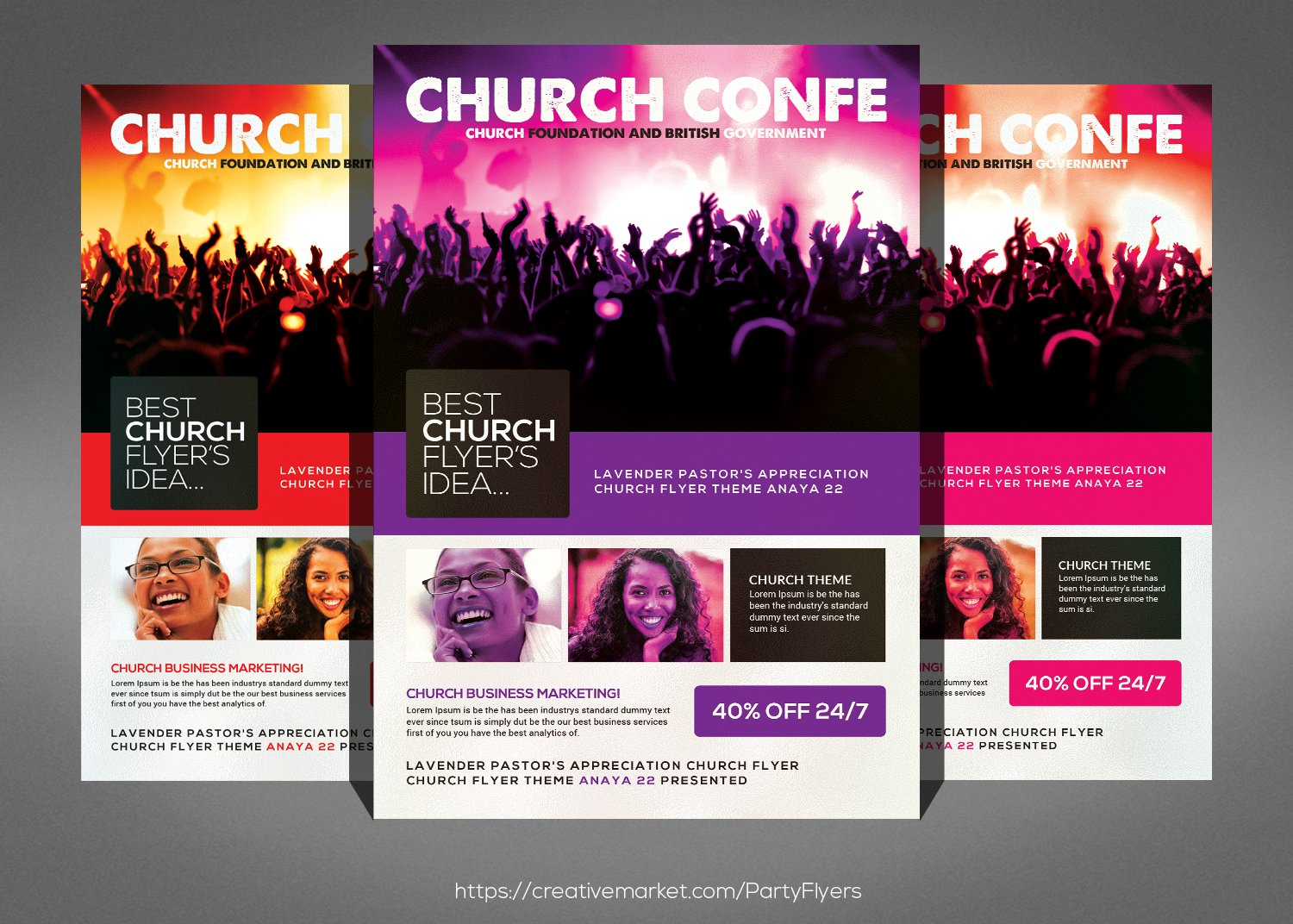 gospel glory church flyer flyer templates on creative market