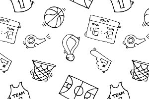 Basketball Elements Pattern