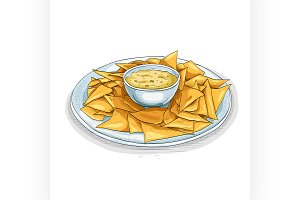 Nachos color picture sticker