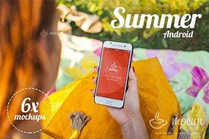 6 PSD Mockups Android Summer