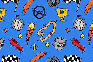 Racing icons pattern