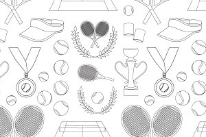 Tennis set pattern