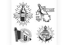 Vintage pirate emblems