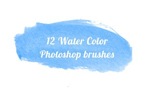 12 Water Colour brushes Photoshop