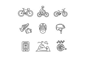 Bike cycling and biking accessories