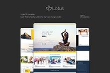 Lotus - Yoga PSD Template