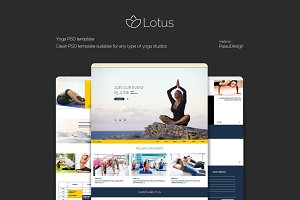 Lotus - Yoga PSD Template