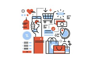 Ecommerce business concept
