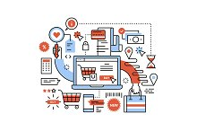Ecommerce business concept