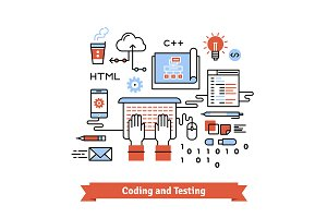 Development and coding process