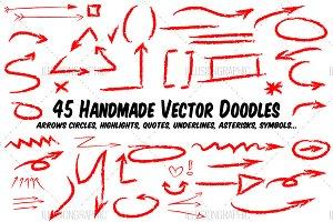 45 Handmade Vector Doodles