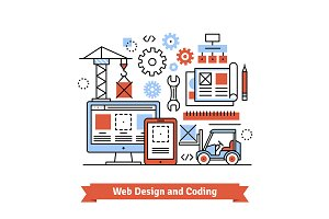 Web designing and coding