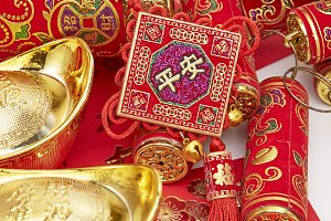 Assorted chinese new year decorations