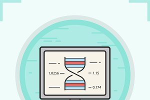 Dna research color icon. Vector