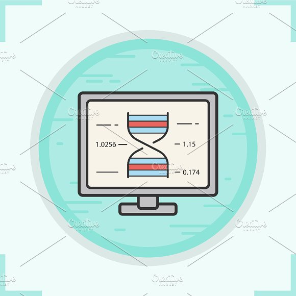 Dna research color icon. Vector - Icons
