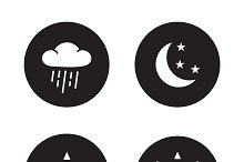 Time of day icons. Vector