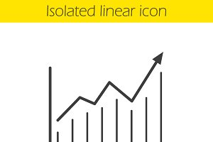 Growth chart linear icon. Vector