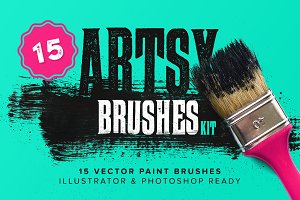 Artsy Paint Brushes Kit