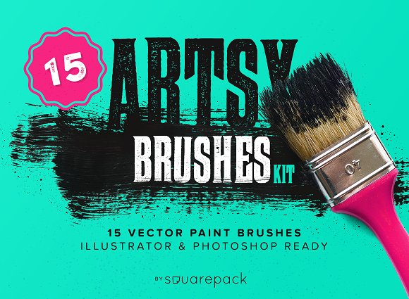 Artsy paint brushes kit brushes creative market artsy paint brushes kit brushes toneelgroepblik Image collections
