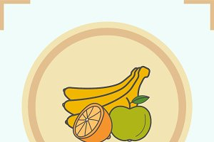 Fruits color icon. Vector