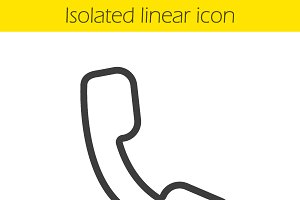 Phone linear icon. Vector