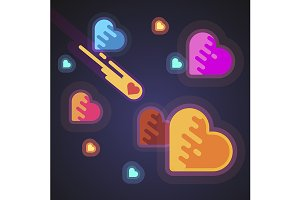Burning heart speeding like a comet