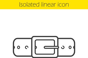 Leather belt linear icon. Vector