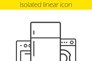 Household appliances icon. Vector