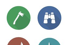Expedition tools icons. Vector