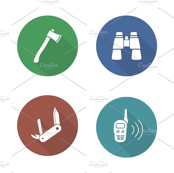 Expedition tools icons. Vector - Icons