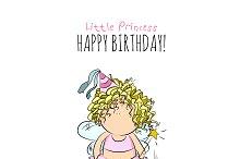 happy birthday. little fairy