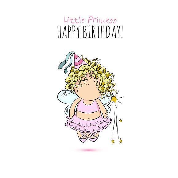 happy birthday. little fairy - Illustrations