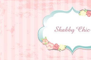 shabby chic. congratulations card