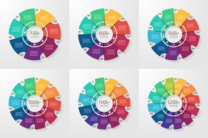 Vector circle infographic templates