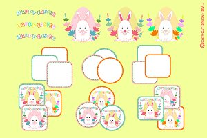 Happy Easter Labels Printable