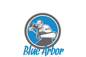 Blue Arbor Treescapers Logo
