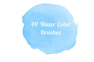 40 Water color Brushes for Photoshop