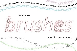 79 Pattern brushes for Illustrator