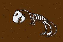 Dino skeleton. Vector