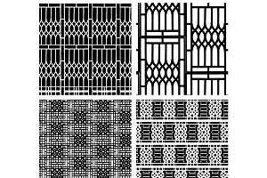 Black and white seamless pattern of