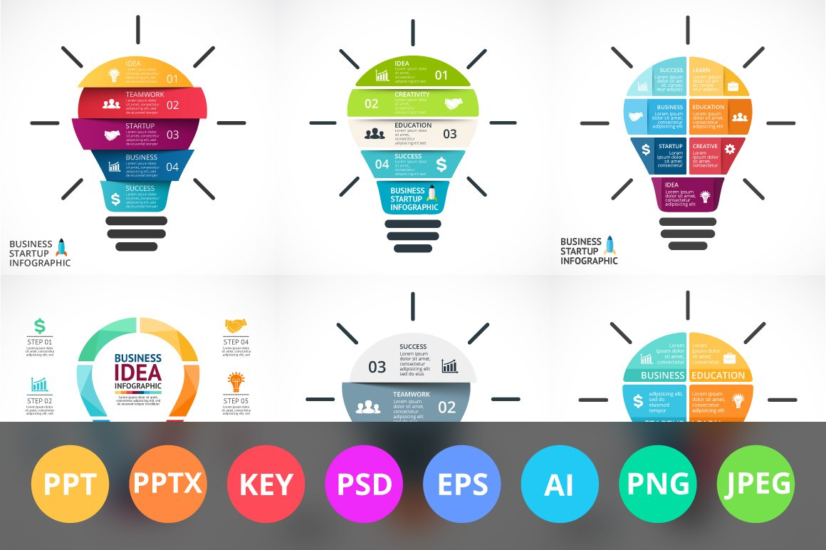 Business Free Updates Presentation Templates Creative Market Return To Light Bulb Diagram Template For Powerpoint And Keynote Bulbs